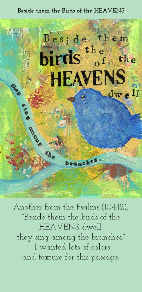 Beside Them the Birds of the Heavens-painting