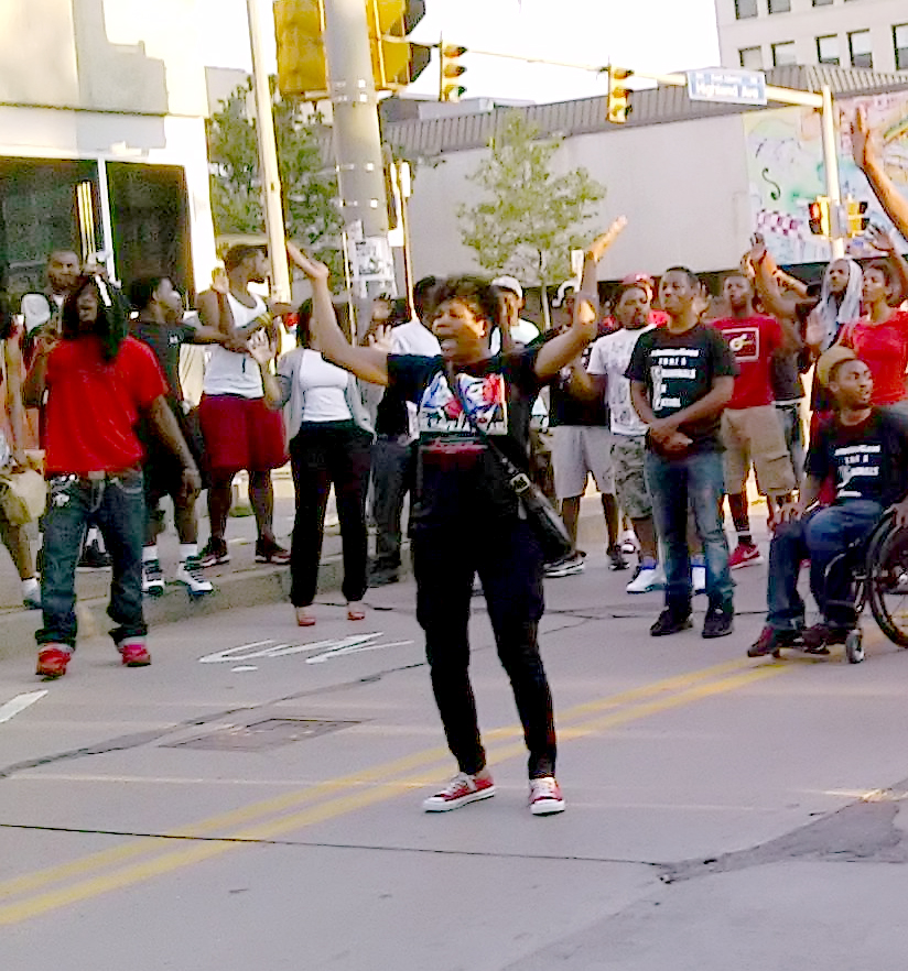 Michael Brown protest-East Liberty, Pittsburgh, PA