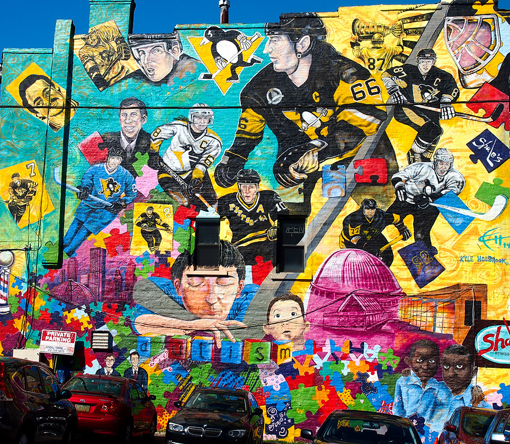 Pittsburgh Penguins Mural