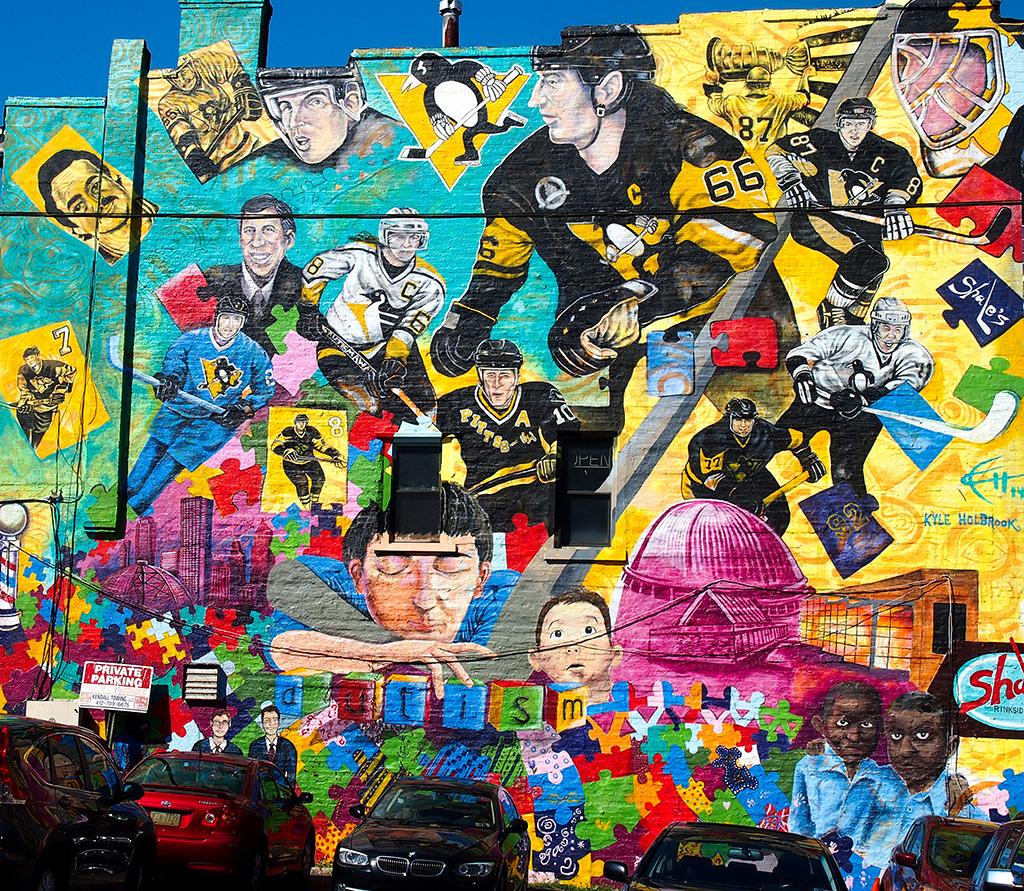 Pittsburgh Penguins Mural