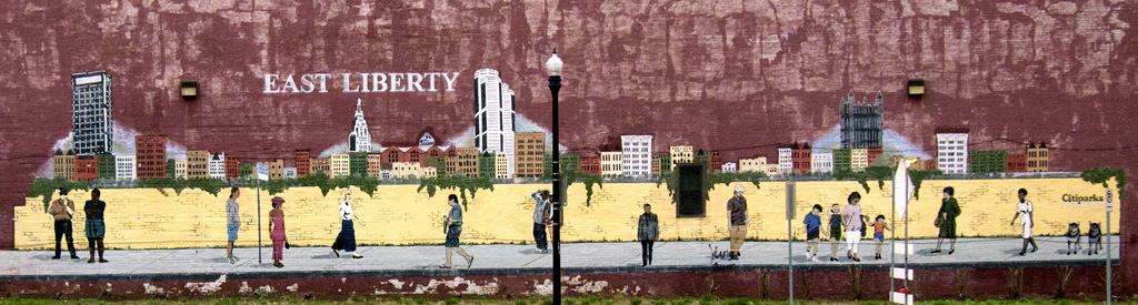 Mural of East Liberty Business District